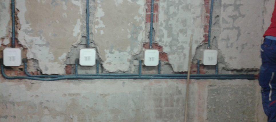 Umbau der Umkleidekabinen / Duschen im Sportheim (Bilder während der Bauphase)