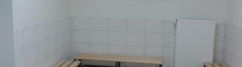 Neue Umkleidekabinen / Abschluss der Bauarbeiten